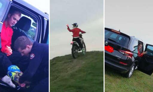 Bieber kjørte motocross i Stavanger